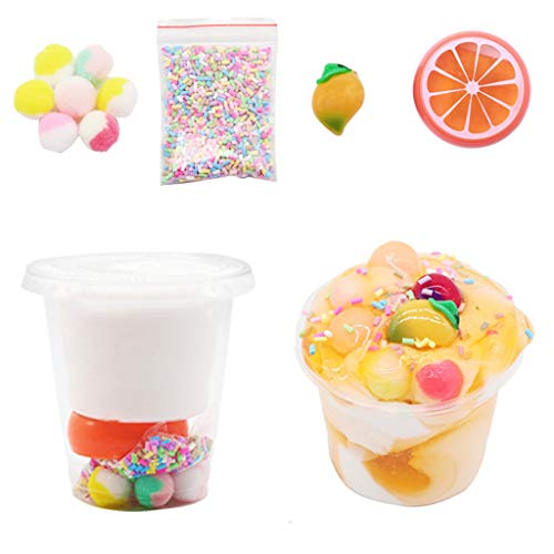 Plüsch Bildung Squishy Spielzeug aufblasbares Spielzeug im Freien Spielzeug,150ml Squishies Clay Fruit Slime Kitt Duftstoff für Kinder ()