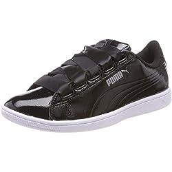 Puma Vikky Ribbon P, Baskets Basses Femme, Noir (Puma Black-Puma Black), 38 EU