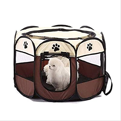 GuGou Pet Dog Cat Playpen Cage Crate - Portable Folding Exercise Kennel - Indoor & Outdoor use from GuGou