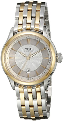 Oris Women's 31mm Two Tone Steel Bracelet & Case Automatic Silver-Tone Dial Analog Watch 56176044351MB