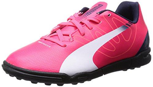 Puma Evospeed 5.3 Tt Jr, Chaussures de football mixte enfant Rouge - Rot (bright plasma-white-peacoat 05)