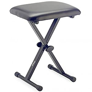 Outdoortips Modern Foldable Adjustable Piano Stool
