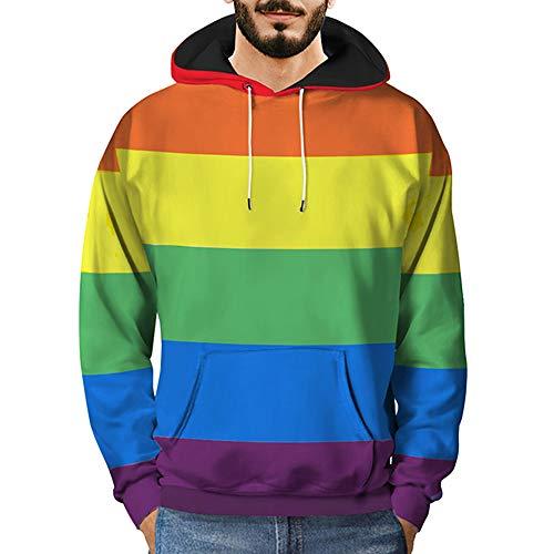 Sannysis Herren Slim Fit Hoodie Herren Damen Sweatshirts Bluse Hooded 3D...