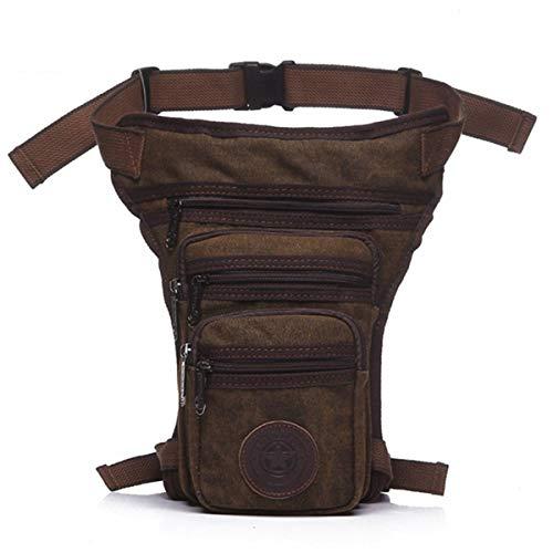 Huntforgold Vintage Canvas Beintasche Drop Multi-Pocket Taktische Militärische Hüfttasche für Radfahren Motorrad Wandern Klettern Reise Outdoor Sport