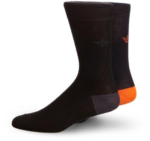 Dockers Herren Socken 2er Pack Mehrfarbig (BLACK/GREY + NAVY/FLAME 1)