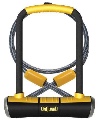 Onguard Fahrradschloss Pitbull DT Bügelschloss mit 4-Zoll Cinch Loop-Kabel (schwarz, 11,5x 9.06-inch)