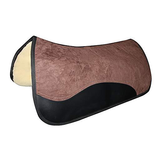 Mitrc Horse Saddle Pad, Korrektur-Sattelkissen Wildlederimitat-Schutzimitat, ideal für Vielseitigkeit, Ausbildung, Dressur, Springen und Training -