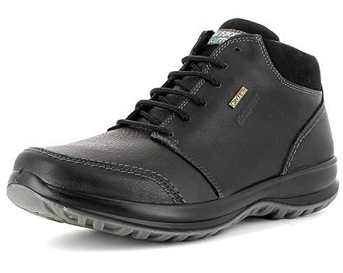 Grisport Sneaker High,Männer,Herren_Halbschuh,wasserdicht, bequem, halbhoher Lederschuh, Active-System, hoher, Rutschfest,Schwarz, 46 -