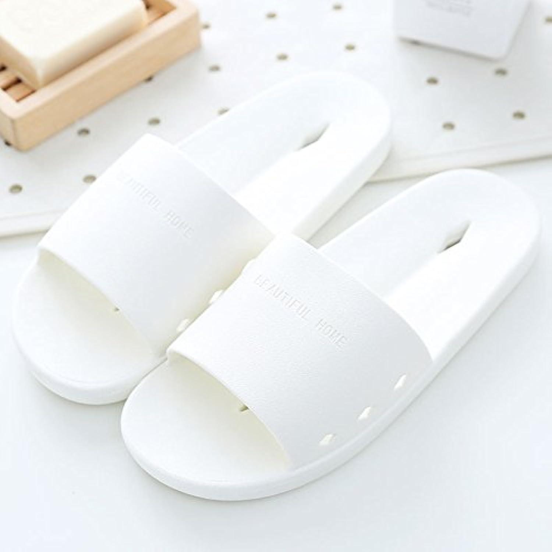 DogHaccd Zapatillas,Zapatillas de baño Casa de verano femenina parejas Interior antideslizante fugas de agua de...