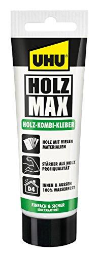 UHU 51305 - Holzleim Holz Max, ohne Lösungsmittel, Tube mit 100 g