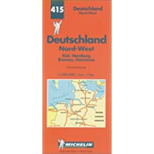 Michelin Karten, Bl.541 : Deutschland Nord-West (Michelin Map)