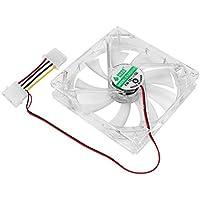 Quad 4 LED-Leuchten 120 mm PC-Gehäuselüfter Mod einfach installierter Lüfter 12 V