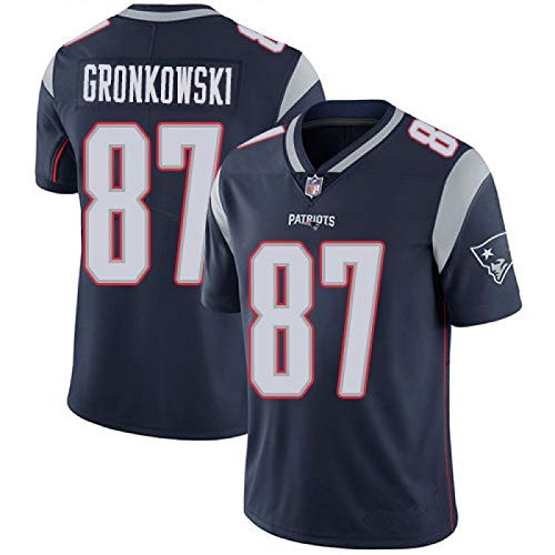 PROSPECT New England Patriots American Football 87 Rob Gronkowski Herren Trikot - Navy(XXL) (New England Patriots Trikot Jersey)