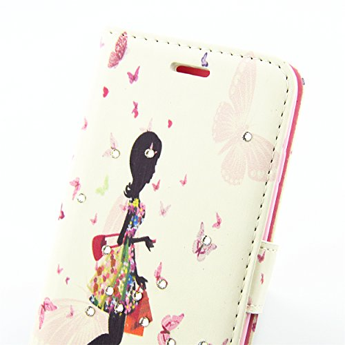 iPhone 7 Plus Flip Case Coque,iPhone 7 Plus Glitter Coque,iPhone 7 Plus Wallet Case Coque,iPhone 7 Plus Cuir Case Coque,EMAXELERS iPhone 7 Plus Leather Case Wallet Flip Protective Cover Housse Swag,iP Butterfly Fairy 2