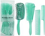Detangling Brush Hair Detangler for Wet or Dry Straight Long Thick Curly Natural Hair No More Tangle