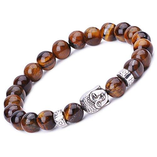 Unendlich U Unisex Buddha Armband, Zen-Buddhismus Legierung Armreif, EnergieStein Kugeln Perlen Gebet Mala Stretch Energiearmband, - Perlen Halskette Buddhismus Gebet