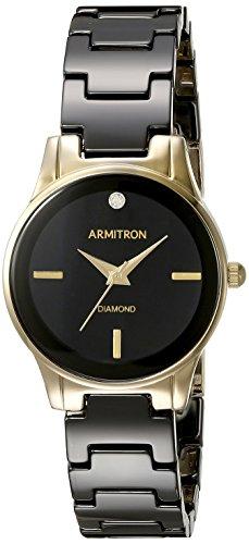 armitron-mujer-75-5348bkgp-diamond-accented-gold-tone-y-negro-cermica-pulsera