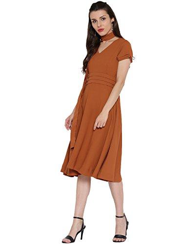 Desi-Fusion-Womens-A-Line-Cotton-Dress