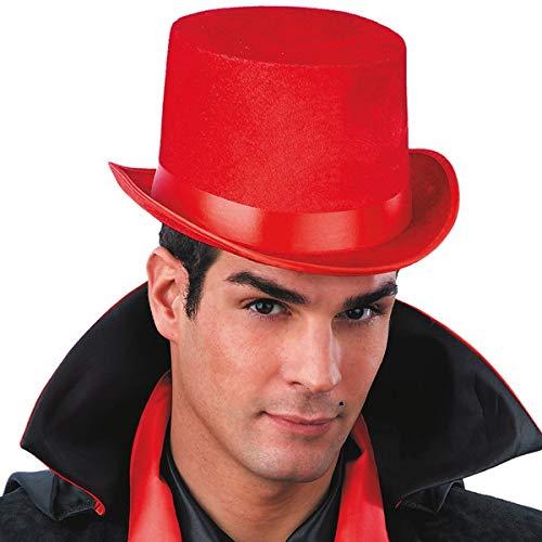 Generique - Chapeau Haut de Forme Rouge