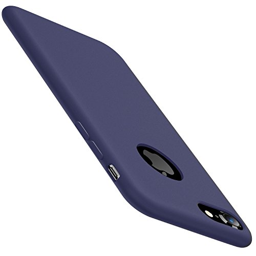 iPhone 8 Hülle, iPhone 7 Hülle, TORRAS [Love Serie] Silikon Gel Rubber HandyHülle Stoßfestes Shockproof Case Cover mit einem weichen Mikrofasertuch Futter Kissen für Apple iPhone 8 (2017) / iPhone 7 ( Midnight Blau