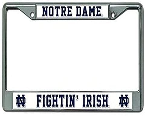 Ohio State Buckeyes Chrome Rahmen, damen Kinder Herren unisex, Notre Dame Fighting Irish (State University Chrome Frame)