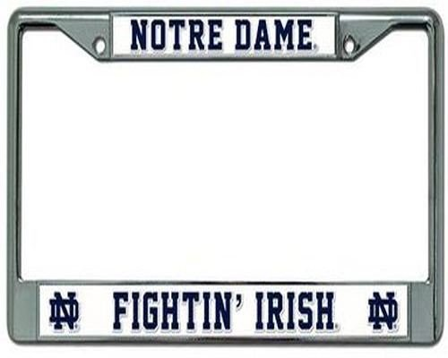 Irish Chrome License Plate Frame (Rico Ohio State Buckeyes Gestell Chrom, Notre Dame Fighting Irish, Einheitsgröße)