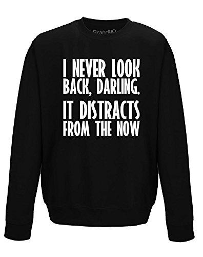 (I Never Look Back, Erwachsene Gedrucktes Sweatshirt - Schwarz/Weiß L = 112cm)