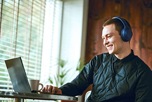 Sony WH-XB900N Bluetooth Noise Cancelling Kopfhörer (Extra Bass,30h Akku, Amazon Alexa & Google Assistant, Gestensteuerung) Blau - 6