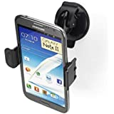 Universal 360 Degree Swivel Car Mount Holder Suction For Samsung iPhone HTC LG - Black