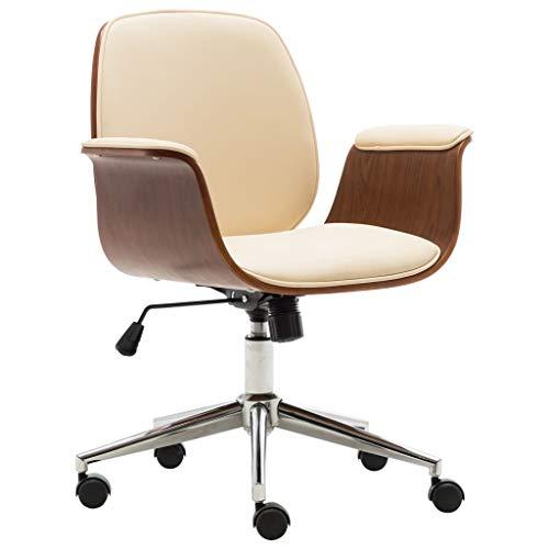 Verstellbar Bürostuhl Chefsessel Schreibtischstuhl Drehstühle Kunstleder Creme