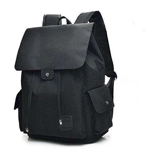 ZMLSXU Casual Rucksack mit USB-Ladeanschluss Laptop Dackpack Business Bag Student Reisetasche Sport Rucksack Schwarz