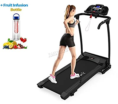FoxHunter Heavy Duty Folding Motorized Electric Treadmill Running Fitness Exercise Machine Manual With Free Water Bottle MP3 Indoor Sport Gym Pro Jogging MT03 KBR-JK3706-2 Black New from FoxHunter