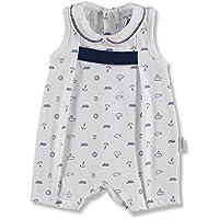 BABIDU 17235, Pelele Unisex bebé, Azul (Marino 001) 68 (Tamaño del