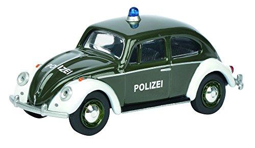 Preisvergleich Produktbild Schuco 452012900 - VW Käfer Polizei Maßstab 1:64, grün/weiß