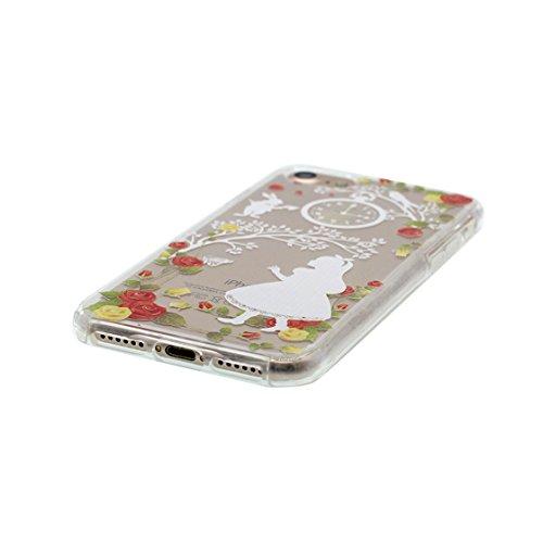 iPhone 6 Custodia, Visualizza chiaro Ultra sottil Silicone Cover Shell Semplice Progettato per iPhone 6s Copertura (4.7 pollici), iPhone 6S Case - Margherite color 4