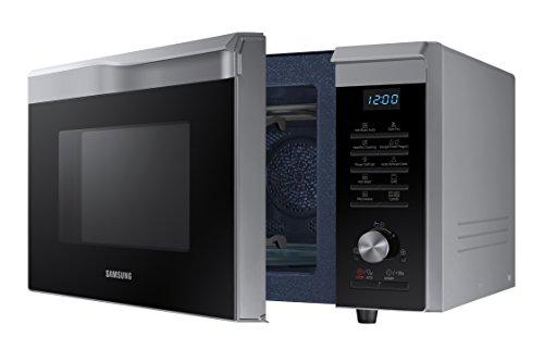 Samsung Mc28M6055CS/EC - Horno-Microondas con grill, 900W/1500W/2100W, 28 litros, interior de cerámica, ventana EasyView y función horno hasta 200º C, color gris