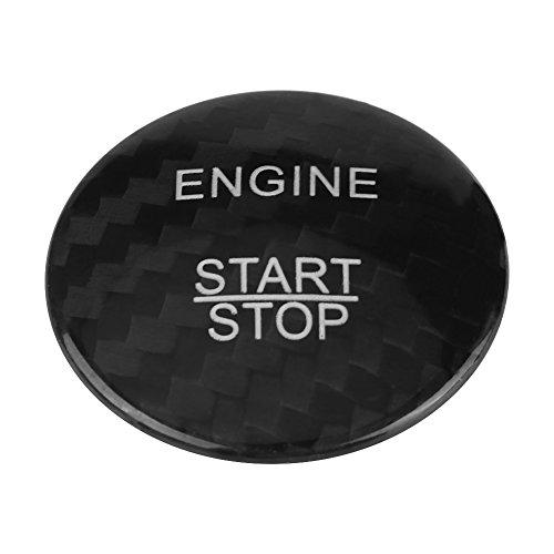 Garniture de bouton de démarrage de moteur de fibre de carbone de Qiilu pour A B C GLC GLA CLA ML GL classe(Noir)