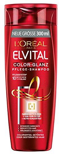 L\'Oréal Paris Elvital Color-Glanz Pflege-Shampoo, Farbschutz für colorierte Haare, 3 x 300 ml
