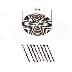 DQSUN Pot Protection pour Plantes, Marron,52cm Diamètre