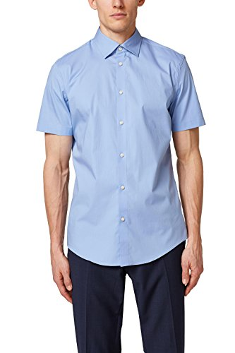 ESPRIT Collection Herren Businesshemd 038EO2F001, Blau (Light Blue 440), X-Small (Herstellergröße: 35-36)