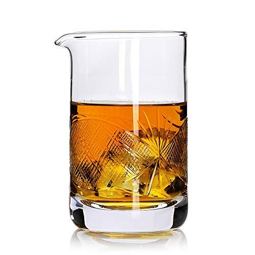 Crystal Cocktail-Mix-Glas, 525 ml, Rührglas, Rührglas, Premium-nahtloses Design, dicker beschwerter Boden, machen Sie Ihre eigenen speziellen Cocktails clear mixing glass 5 Crystal-martini-cocktail
