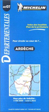 Carte routière : Ardèche, 4007, 1/150000 par Carte Michelin