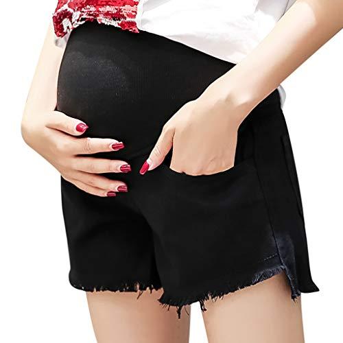 BIBOKAOKE Umstandsmode Kurze Hosen Jeanshosen für Schwangere Umstandskleidung Casual Hohe Taille Shorts Sporthose Elastizität Lose Sportswear Bermuda Hot Pants