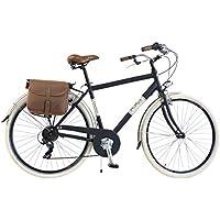 Via Veneto by Canellini Bicicleta Bici Citybike CTB Hombre Vintage Retro Via Veneto Aluminio (Negro, 54)