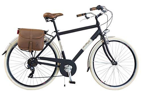 Via Veneto by Canellini Bicicleta Bici Citybike CTB Hombre Vintage Retro Via Veneto Aluminio (Negro, 58)