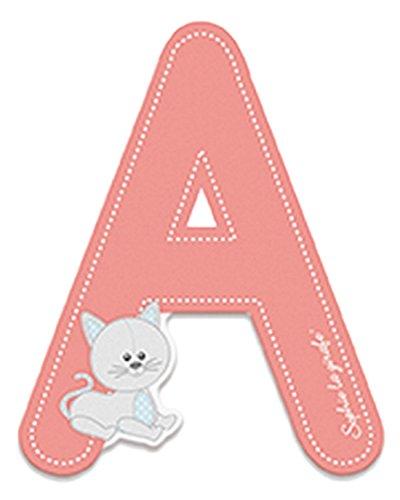 Preisvergleich Produktbild Janod Holzbuchstabe- Sofie die Giraffe Alphabet Namensbuchstaben A Kinderzimmer Deko, 5,8 x 7cm, rosa
