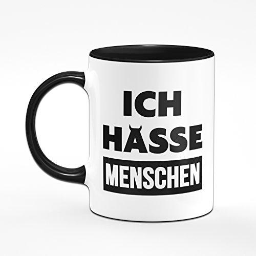 Ich Hasse Menschen Tasse - Kaffeetasse - hochwertige Qualität - Kaffee - 2