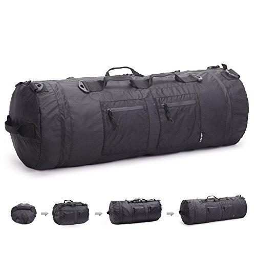 JSVER Top Rucksack Trekkingrucksack Wanderrcksack aus wasserfeste Nylon - klappbar flexible Sporttasche Reisetasche mit 12 Methode zu tragen