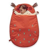 Bebamour Anti Kick Baby Sleeping Bag Safe Nights Cotton Baby Sleep Bag 2.5 Tog 0-18 Months and Above Cute Infant Boy Girls Sleeping Sack Baby Wrap Blanket (Orange/50-85cm/For 0-18Months)