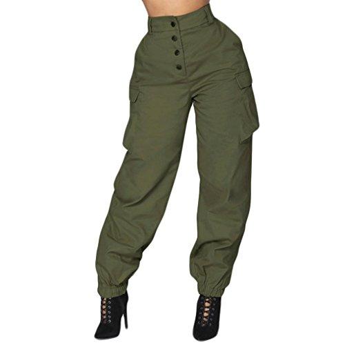 TUDUZ Damen Hosen Elegant High Waist Stretch Skinny Hosen Pants Casual Streetwear Pants Hosen mit Tunnelzug